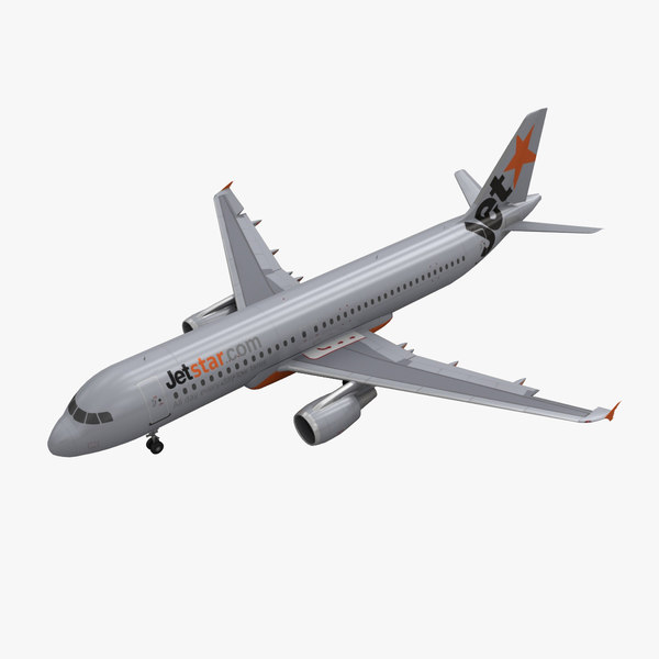 airbus a320 jetstar animation 3d max
