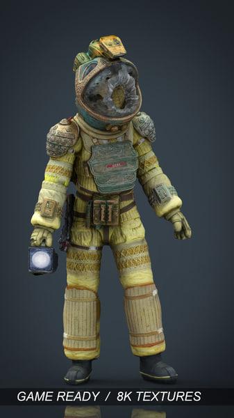 3d spacesuit kane alien