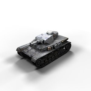 panzer iv tanks f2 3d model