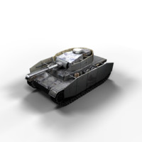 panzer iv tanks j 3d max