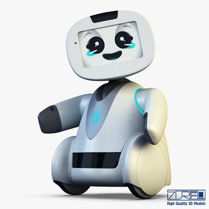 3d model buddy robot white v