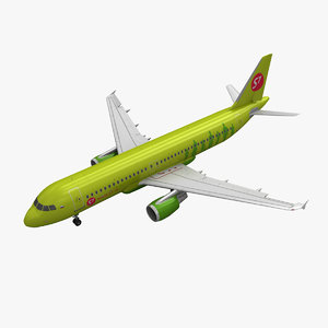 airbus a320 s7 airlines 3d model