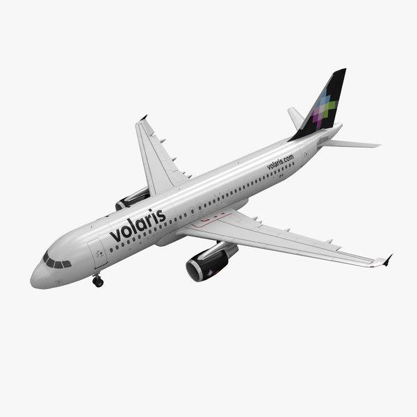 airbus a320 volaris animation max