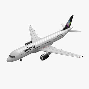 3d airbus a320 volaris model