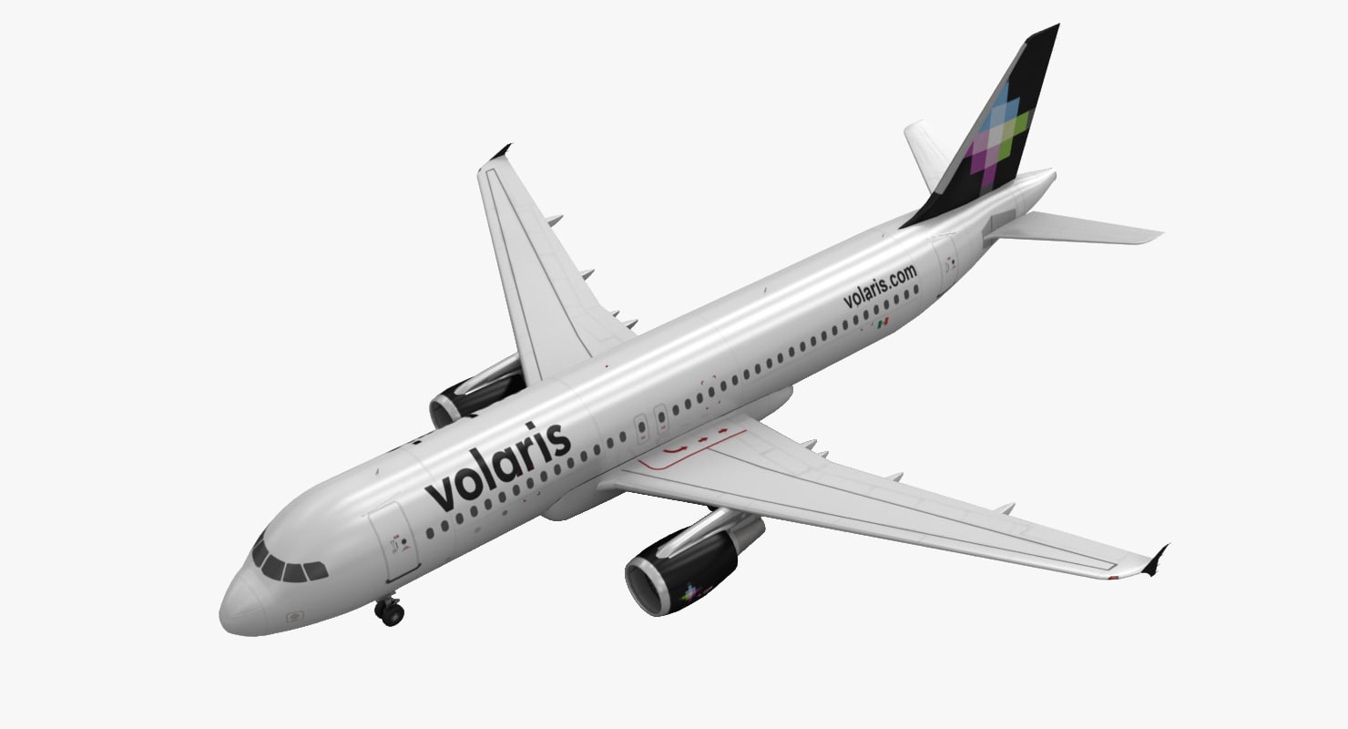 3d airbus a320 volaris model