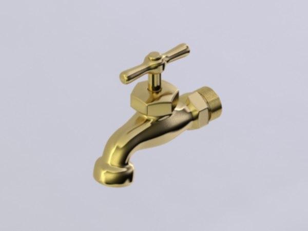 3d bib faucet model