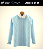 3d striped shirt model