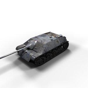 jagdpanzer iv tank panzer 3d max