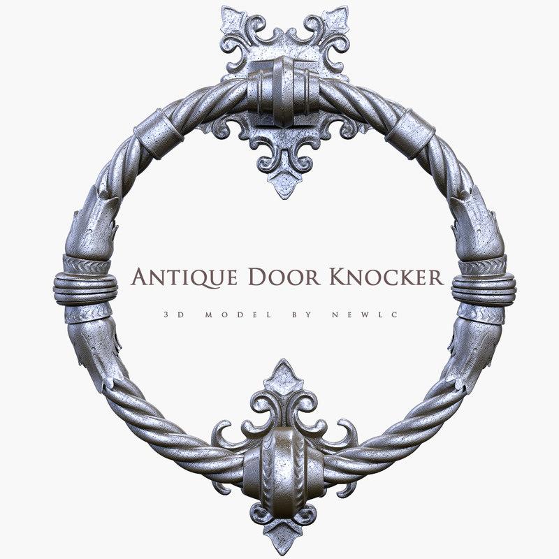3d model old knocker