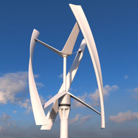 3d vertical wind turbine model