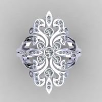 3d model designer ring