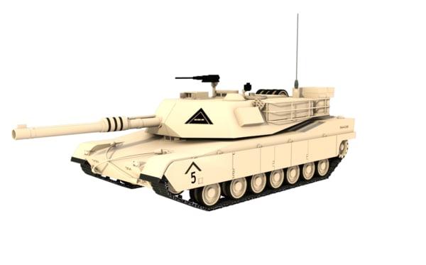 3d m1a1 tank