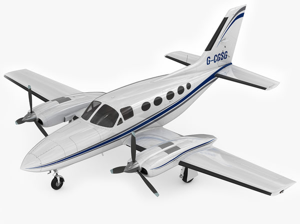3d model cessna 421 golden