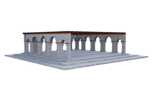 free obj model pavilion