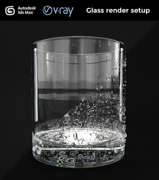3d max render setup glass