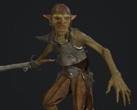 pbr goblin 3d model