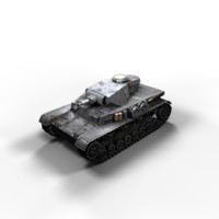 Panzer 4 Ausf F1 Low Poly