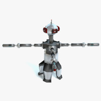 enemy robot 3d obj