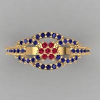 designer ring 3d dxf