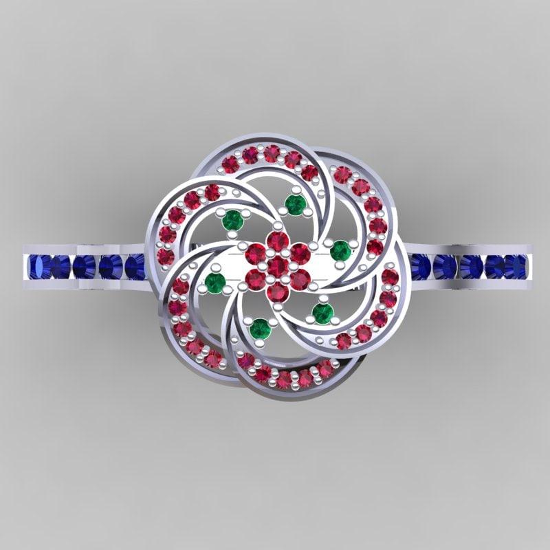 3d designer ring