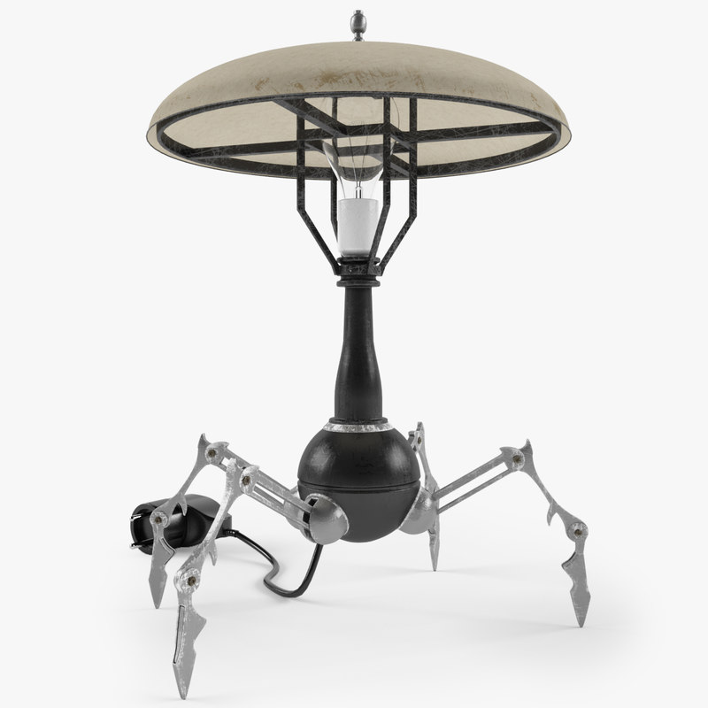 3d lamp robot model