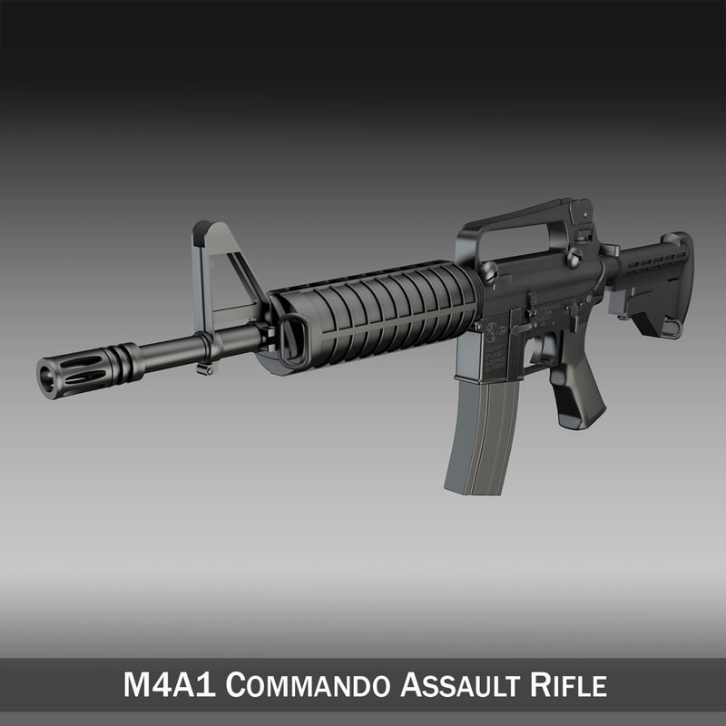 3d colt m4 commando assault rifle model