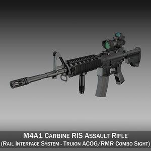 c4d m4a1 sopmod rifle