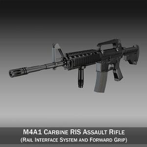 3d m4a1 ris m4 carbine model