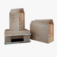 box board carton 3d max