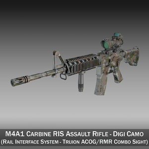 lightwave m4a1 sopmod rifle colt m4