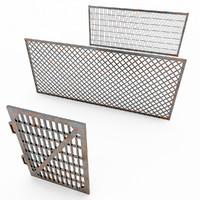 fence metal gates 3d max