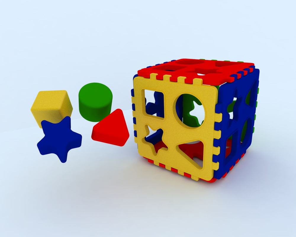 toy shape sorter box 3d model