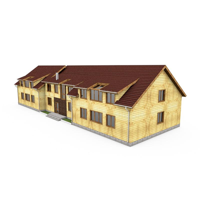 c4d bar wood house