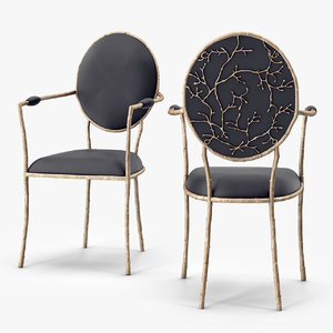 3d model koket enchanted dining chair