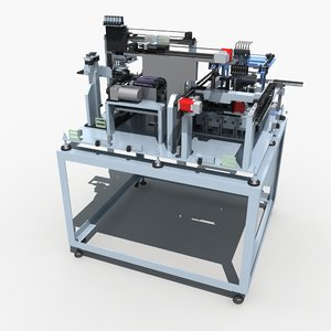 automatic production equipment 3d max