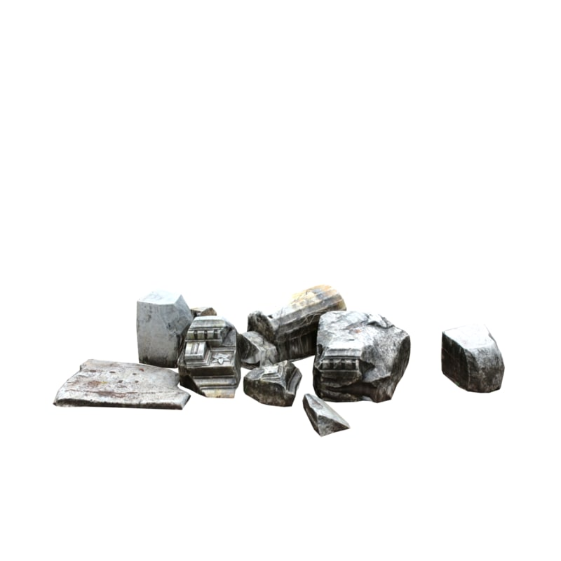 stone debris 04 3d model