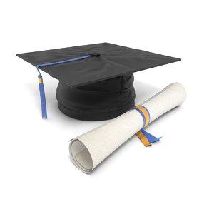 graduation cap 3d 3ds