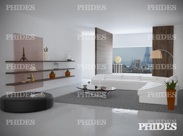 3d model of living room