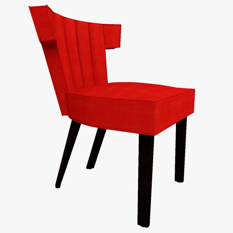 3d isabella slipper chair model