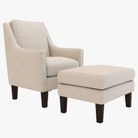 Abbott Chair with Ottoman