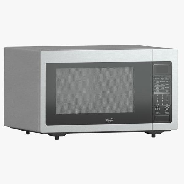 whirlpool microwave wmc30516as 3d max