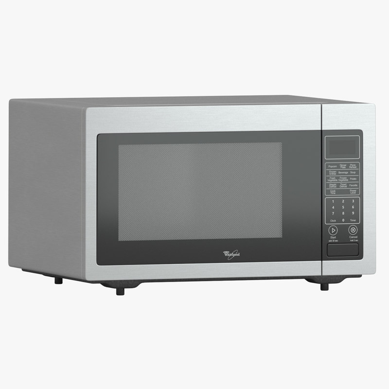 whirlpool microwave wmc30516as 3d max