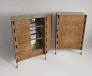 locker bar 3d model