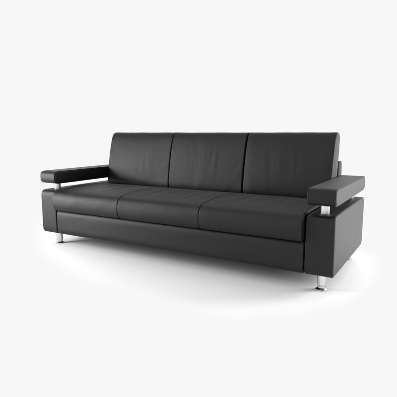 3d modern leather couch model