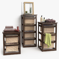 Furniture with Baskets model LAUNDRY wenge