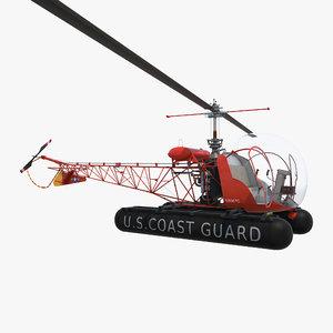 bell 47 floats uscg 3d max