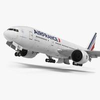 boeing 777 200lr air france 3d max
