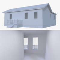 residential home interior 3d obj
