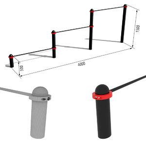 horizontal bar paw-01 3d 3ds