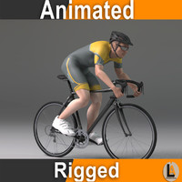 cyclist male 3d model